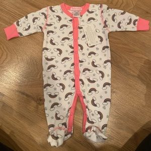 NWT Baby Steps Button Footies